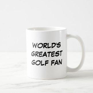 """""""世界最も素晴らしいゴルフファン""""のマグ コーヒーマグカップ"""