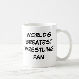 """""""世界最も素晴らしいレスリングファン""""のマグ コーヒーマグカップ"""