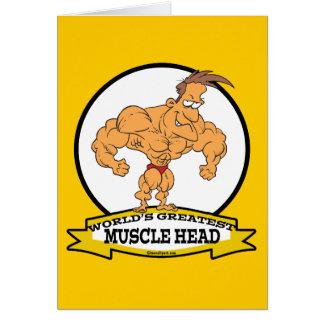 世界最も素晴らしい筋肉頭部の人の漫画 カード