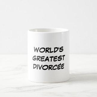 """""""世界最も素晴らしいDivorcée""""のマグ コーヒーマグカップ"""