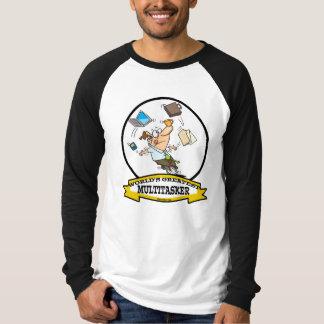 世界最も素晴らしいMULTITASKERの男性の漫画 Tシャツ