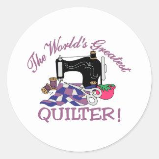 世界最も素晴らしいQuilter ラウンドシール