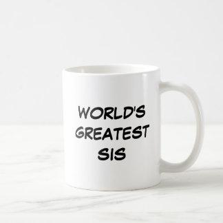 """""""世界最も素晴らしいSis""""のマグ コーヒーマグカップ"""