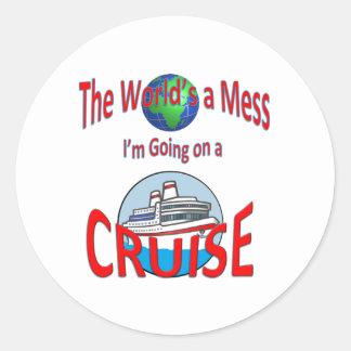 世界混乱の巡航のユーモア ラウンドシール