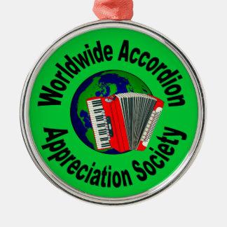 世界的なアコーディオンの感謝の社会 メタルオーナメント