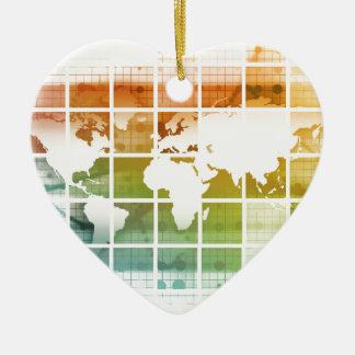 世界的なビジネス技術 セラミックオーナメント