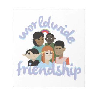 世界的な友情 ノートパッド