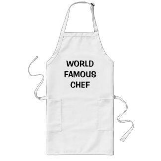 世界的に有名なシェフのエプロン服の衣裳 ロングエプロン