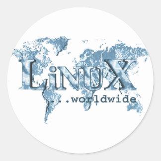 世界的のLinux ラウンドシール