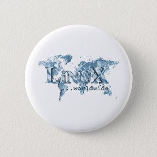 世界的のLinux 5.7cm 丸型バッジ