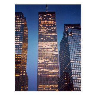 世界貿易センター深い青空 ポストカード