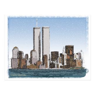 世界貿易センター雪 ポストカード