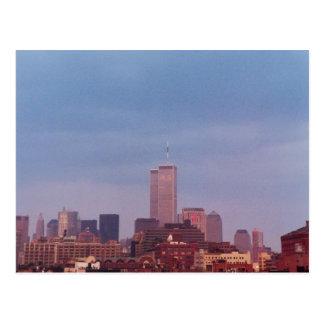 世界貿易センター青の雲 ポストカード