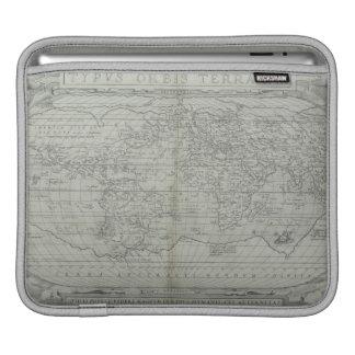 世界10の地図 iPadスリーブ