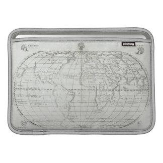 世界17の地図 MacBook スリーブ