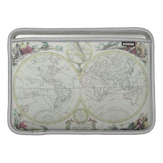 世界18の地図 MacBook スリーブ