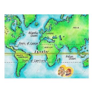 世界19の地図 ポストカード