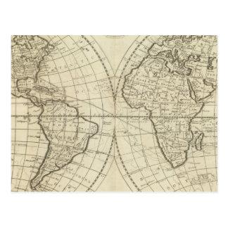 世界2の地図 はがき