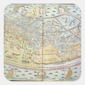 世界2の地図 スクエアシール