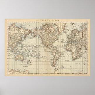 世界2の地図 ポスター