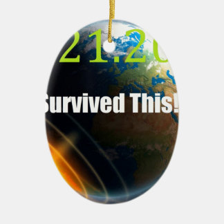 世界2012年の端 陶器製卵型オーナメント