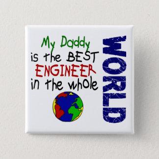 世界2 (お父さん)の最も最高のなエンジニア 5.1CM 正方形バッジ