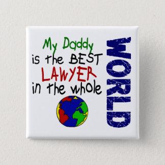 世界2 (お父さん)の最も最高のな弁護士 5.1CM 正方形バッジ