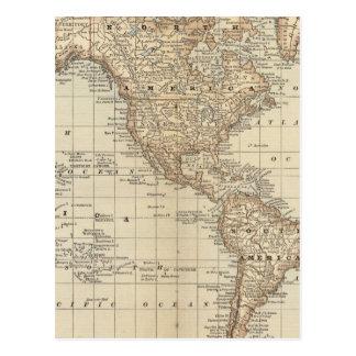 世界3の地図 ポストカード