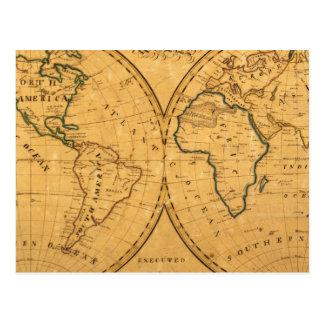 世界5の地図 はがき