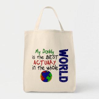 世界(お父さん)の最も最高のな保険計理人 トートバッグ