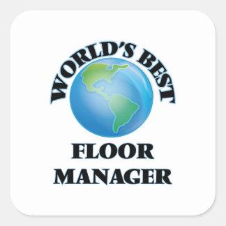 世界|ベスト|床|マネージャー 正方形シール