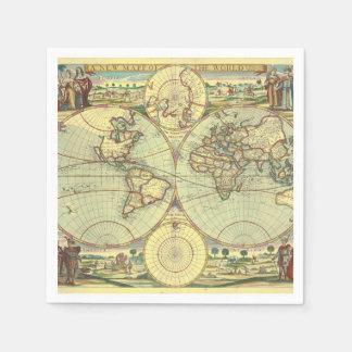 世界-地図書の新しいmapp スタンダードカクテルナプキン