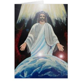 世界-地球上のイエス・キリストのライト カード