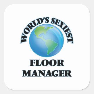 世界 最もセクシー 床 マネージャー 正方形シール・ステッカー