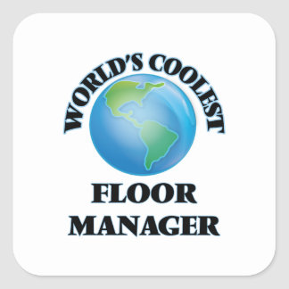 世界 最も涼しい 床 マネージャー 正方形シールステッカー