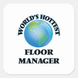 世界 最も熱い 床 マネージャー 正方形シールステッカー