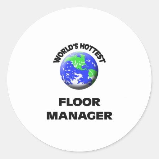 世界 最も熱い 床 マネージャー 丸形シール・ステッカー