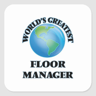 世界|最も素晴らしい|床|マネージャー 正方形シール・ステッカー