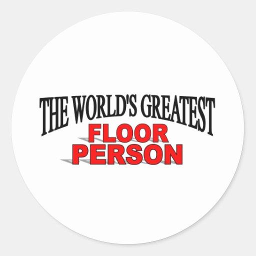 世界 最も素晴らしい 床 人 丸形シールステッカー