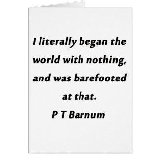世界- P T Barnum --を始めました カード