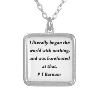 世界- P T Barnum --を始めました シルバープレートネックレス