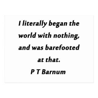 世界- P T Barnum --を始めました ポストカード
