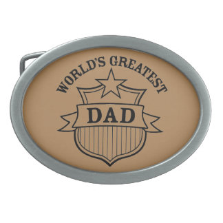 """世界"""" sのすばらしいパパのデザイン 卵形バックル"""