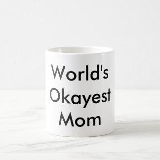 """""""世界Okayestお母さん""""のマグ コーヒーマグカップ"""