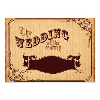 世紀のヴィンテージの結婚 カード