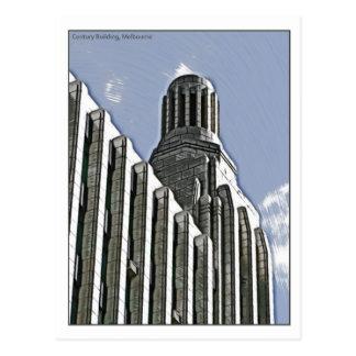世紀の建物、メルボルン ポストカード
