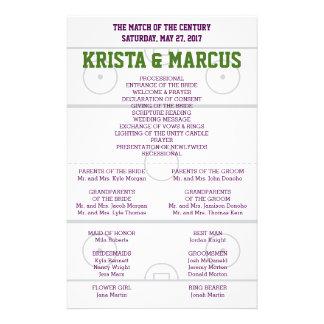 世紀の結婚式プログラムのマッチ チラシ