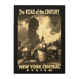 世紀のNYCの道 ウッドウォールアート