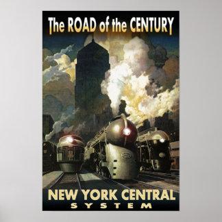 世紀のNYCの道 ポスター