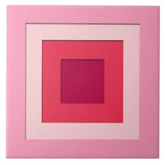 世紀半ばによって層にされる正方形-ピンクおよびワイン タイル